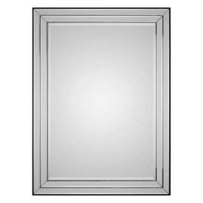 """Rectangle Wood Framed Accent Mirror"" - Wayfair"