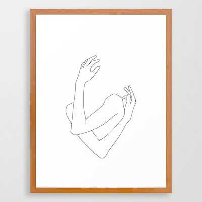 Crossed arms illustration - Jill Framed Art Print by The Colour Study - Society6