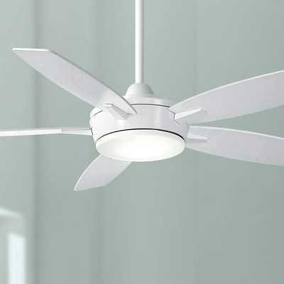 """52"""" Minka Aire Espace White LED Ceiling Fan - Lamps Plus"""