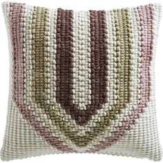 "18"" ALLIUM CHUNKY YARN PILLOW WITH DOWN-ALTERNATIVE INSERT - CB2"