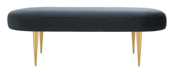 Corinne Velvet Oval Bench - Navy - Arlo Home - Arlo Home