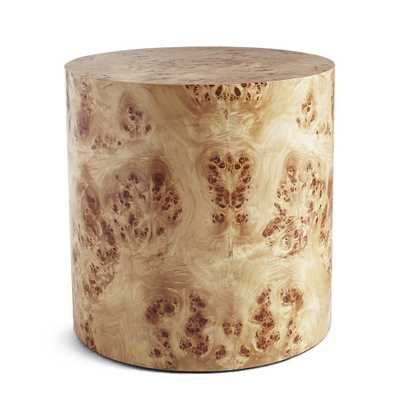 Cylinder Burl Wood Side Table - Wisteria