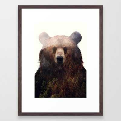 """King Of The Forest Framed Art Print - 20"""" X 26"""" - Conservation Walnut - Society6"""