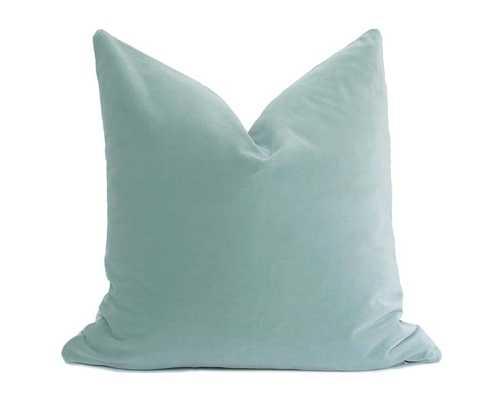 Belgium Velvet Pillow Cover - Seafoam - Willa Skye