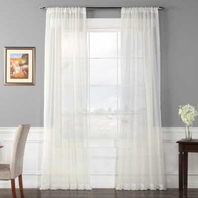 Emie Solid Sheer Rod Pocket Curtain Panels - Wayfair