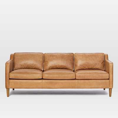 "Hamilton Leather 3-Seater Sofa, 81"", Burnt Sienna - West Elm"