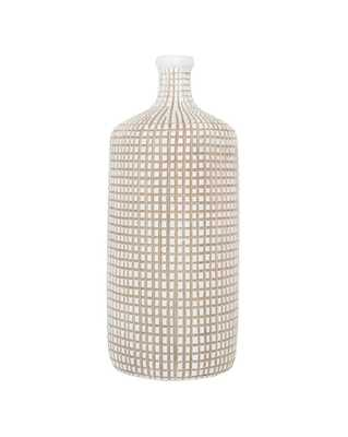 GRID BOTTLE VASE, MEDIUM - McGee & Co.