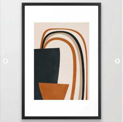 Abstract Art Rainbow Framed Art Print - Society6