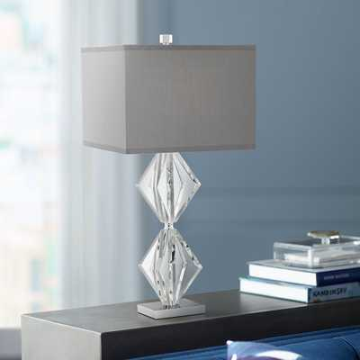 Eileen Crystal Table Lamp with Gray Shade - Style # 53X39 - Lamps Plus