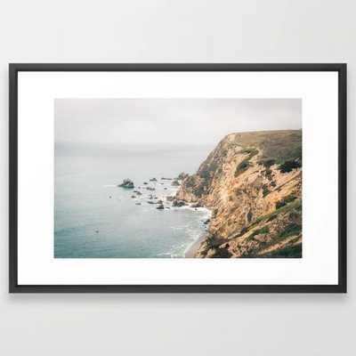"California Framed Art Print - Vector Black Frame - Large (gallery) 26"" x 38"" - Society6"