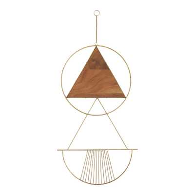 Gold Metal And Wood Geo Celeste Wall Hanging - World Market/Cost Plus