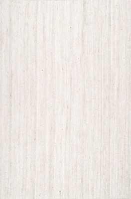 Hand Woven Rigo Jute rug / Off White / 9' x 12' - Loom 23