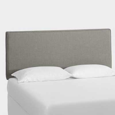 Linen Loran Upholstered Headboard: Gray - Fabric - Queen Headboard by World Market Charcoal/Queen - World Market/Cost Plus