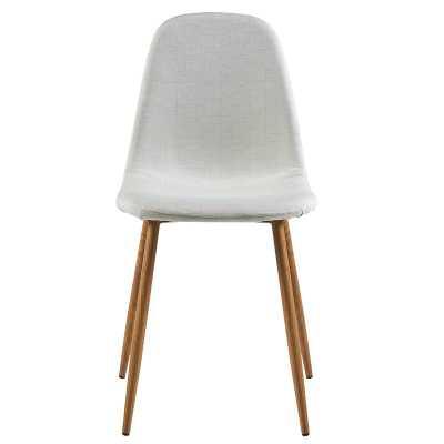 Parvin Upholstered Solid Back Side Chair in Light Grey - AllModern