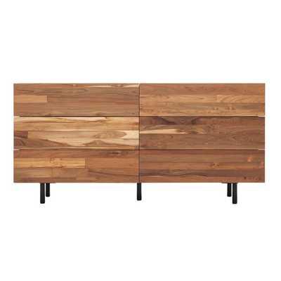 Reclaimed Teak 6 Drawer Double Dresser - Wayfair