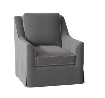 Bella Swivel Chair- Sunbrella® Cast Slate - Birch Lane