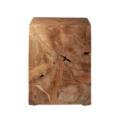 DRIFT NATURAL TEAK ROOT SIDE TABLE - CB2
