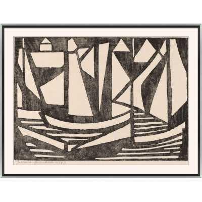 Finn & Ivy 'Japanese Woodcuts - Boats' Print - Perigold