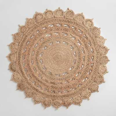 5' Round Woven Jute Area Rug by World Market - World Market/Cost Plus