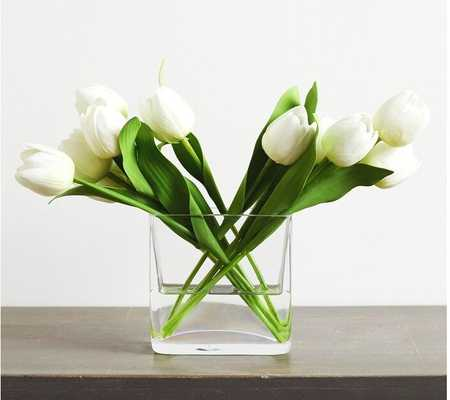 Tulips Floral Arrangement in Vase - Wayfair