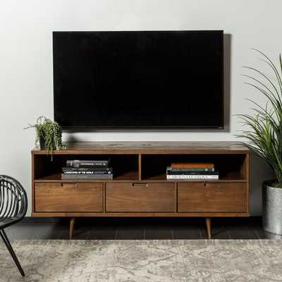 Gervais TV Stand for TVs up to 58- Walnut - Wayfair
