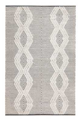 Tufted Tribal Hand-Woven Black/White Area Rug - AllModern