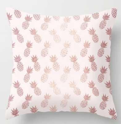 "Rose Gold Pineapple Pillow - 20"" - Society6"