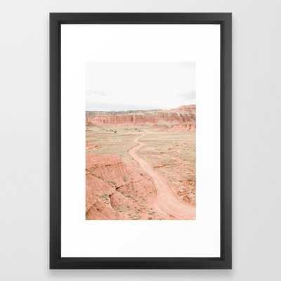 Desert Road Framed Art Print - Society6