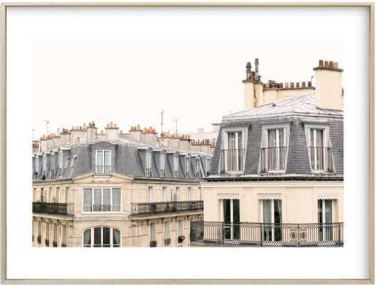 Parisian Windows, 24 X 18, White Border - Minted