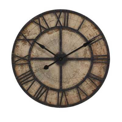 Bryan Map Wall Clock - Mercer Collection