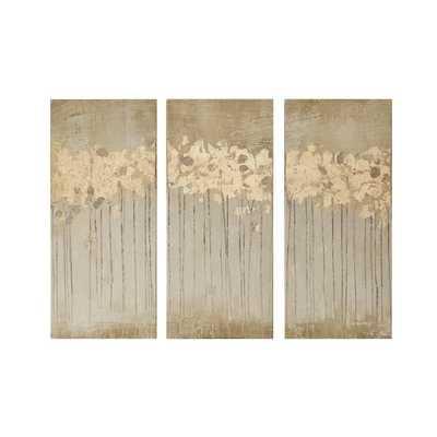 'Sandy Forest' 3 Piece Painting Print Set on Canvas - AllModern