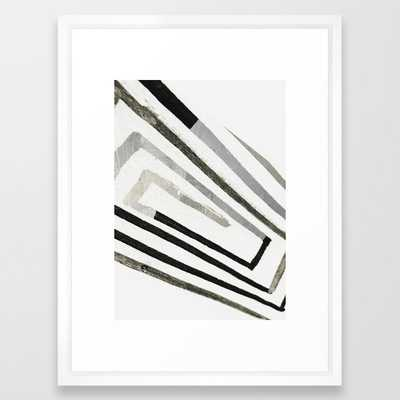 "Abstract minimal 2 Art Print - Vector White - 20"" x 26"" - Society6"