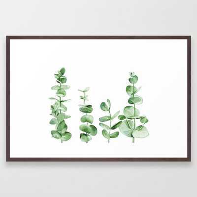 Eucalyptus leaves Framed Art Print by Art by ASolo - Society6