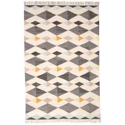 Kurtis Handwoven Flatweave Wool/Cotton Gray Area Rug - AllModern