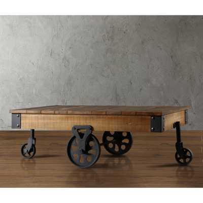 Weston Home Factory Rectangle Wood Coffee Table - Hayneedle