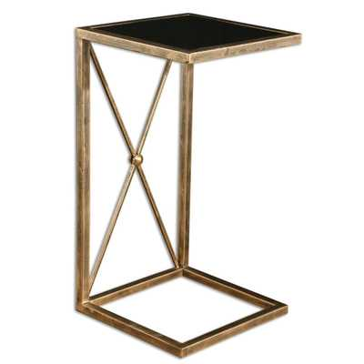Zafina Gold Side Table - Hudsonhill Foundry