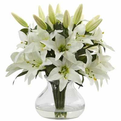 Lilies Floral Arrangement in Vase - Wayfair
