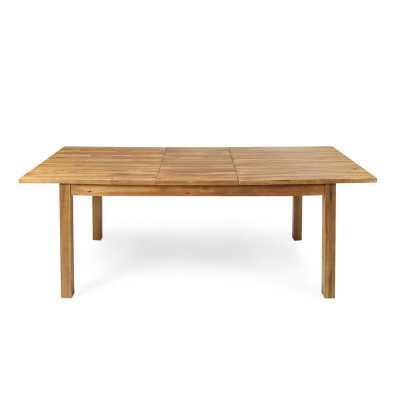 Statler Outdoor Extendable Wooden Dining Table - Wayfair