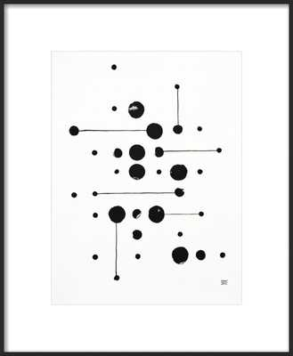 34 Dots 6 Lines_With Matte - Artfully Walls