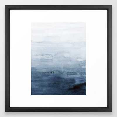 Indigo Abstract Painting | No. 4 Framed Art Print - Society6