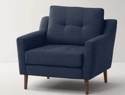 Nomad Armchair in Navy Blue - Burrow