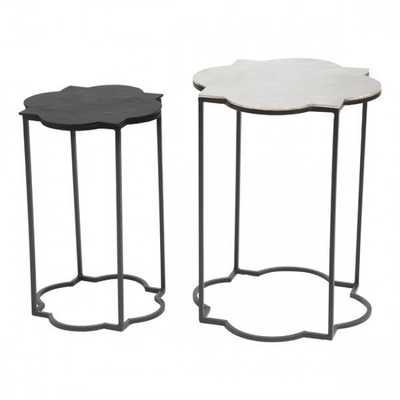 Brighton Accent Table Black & White - Zuri Studios