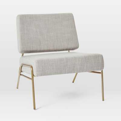 Wire Frame Slipper Chair, Platinum Linen Weave - West Elm