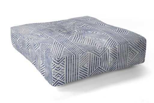 "Amai Denim Floor Pillow Square - 26"" - Wander Print Co."