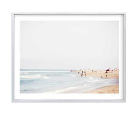 """malibu - 11"""" x 14""""- Brushed Silver Frame with Matte - Minted"""