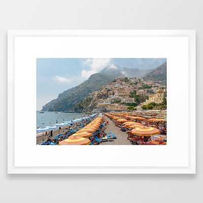 Positano Beach Framed Art Print - Society6