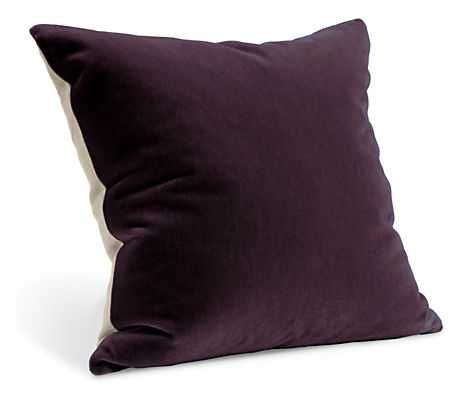 Mohair Pillow-  24x24- Aubergine- With insert - Room & Board