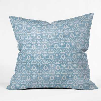 "WIDDEN INDIGO Throw Pillow -18 x 18"" - With Insert - Wander Print Co."