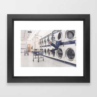 "Laundry Framed Art Print- 10"" X 12""- Vector Black - Society6"