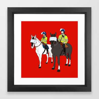 London Metropolitan Horse Cops - Vector Black - Society6